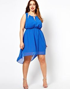 Image 4 of New Look Inspire Neck Detail Dip Back Dress