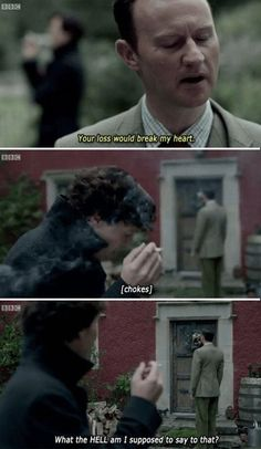 Mycroft and Sherlock really do love each other. <<< No shit sherlock of course they do Sherlock Bbc, Sherlock Fandom, Benedict Cumberbatch Sherlock, Sherlock Holmes Funny, Watson Sherlock, Jim Moriarty, Sherlock Quotes, Sherlock Bored, Johnlock