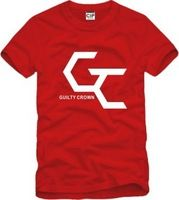 2014 Summer New Men's Guilty Crown T-shirts Short Sleeve Hiphop Skateboard Guilty Crown T shirts