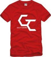 2014 Summer New Men's Guilty Crown T-shirts Short Sleeve Hiphop Skateboard Guilty Crown T shirts