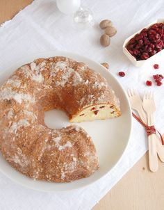 Eggnog pound cake with crystal rum glaze