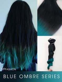 blue ombre human hair extensions for dark hair - Details Hair Color: same as pic shown Hair Quality: Indian Virgin Human Hair extensions Avg. Product Life:exceeds 1 year Heat Friendly: Yes Product Description: Pieces Contents: o Black Brown Hair, Brown Ombre Hair, Dark Hair, Black Hair Blue Tips, Teal Hair, Ombre Human Hair Extensions, Colored Hair Extensions, Ombre Hair Color, Hair Color Balayage