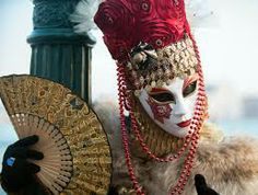 Carnivale masque with influence of the orient