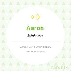 Baby Name: Aaron