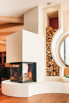 Wenn das Holzfach so schön ist, holt jeder gerne neues Brennholz. Mehr als nur praktisch.