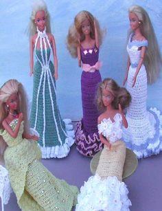 Crochet Fashion Doll Pattern 306 Old Fashioned Evening Gowns Magazine | eBay