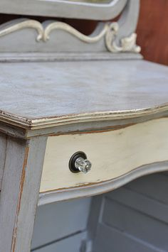 Annie Sloan Chalk Paint in Paris Grey, Old White and Dark Wax....3 fabulous combo's on anything!!