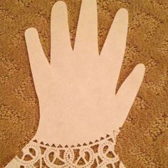 """Doilies """"glove"""" decoration"""