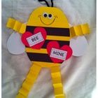 "Ask someone to ""bee"" yours with this cute Valentine's Day craft!  Bee patterns and labels included.  :)..."