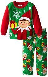 Little Boys Elf On The Shelf Holiday Fleece Pajama Set