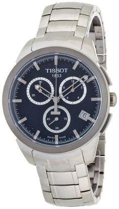 Tissot Men's T0694174404100 Quartz Titanium Black Dial Chronograph Watch Tissot. $432.00. Chronograph. Quartz movement. Case diameter: 45 mm. Antireflective sapphire crystal. Water-resistant to 100 M (330 feet)