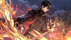Anime Guys, Anime Demon Boy, Anime Black Hair, Dark Anime, Anime Scenery Wallpaper, Anime Artwork, Manga Art, Manga Anime, Anime Stars