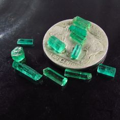 Muzo Emerald Colombia Facet Rough Gem Fine Emerald Crystals PARCEL 10 Stones BN #JewelsRoughGems