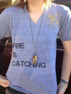 Fire Is Catching T-shirt from Hunger Games/Catching Fire on Etsy, $30.00