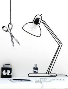 Eindelijk een goede reden om op de muur te tekenen; je hebt een nieuwe bureaulamp nodig!