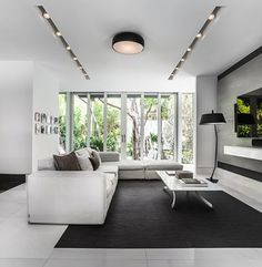 The interiors feature neutral, muted tones in order to highlight the views of the property.