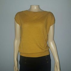 The limited lightweight short sleeve top Great condition. Very lightweight sweater material.   Size medium. Color mustard yellow. The Limited Tops