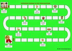 Το νέο νηπιαγωγείο που ονειρεύομαι : Ένα επιτραπέζιο παιχνίδι για την υγιεινή διατροφή Kids Nutrition, Balanced Diet, Book Activities, Crafts For Kids, Healthy Eating, Education, Greek Language, Food, Children