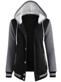 GET $50 NOW | Join RoseGal: Get YOUR $50 NOW!http://www.rosegal.com/jackets/contrast-sleeve-fleece-baseball-hoodie-785738.html?seid=7329543rg785738