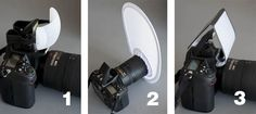 About Photography: Lighting: Using a Pop-up flash   Number 2 is the Interfit small camera diffuser.