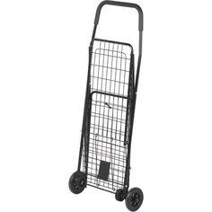Honey-Can-Do Medium Folding Shopping Cart Rolling Utility Wagon Black for sale online Portable Shopping Cart, Folding Shopping Cart, Folding Cart, Shopping Carts, Shopping Bag, Computer Cart, Printer Cart, Rolling Utility Cart, Kitchen Cart
