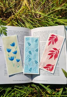 Watercolor Bookmarks, Watercolor Cards, Watercolor Flowers, Watercolor Paintings, Watercolor Illustration, Creative Bookmarks, Diy Bookmarks, Homemade Bookmarks, Small Canvas Art