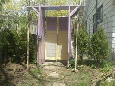 I made this garden archway, I used 3 old doors and one old shutter closet door. Old Closet Doors, Old Doors, Lawn And Garden, Garden Art, Home And Garden, Garden Archway, Potting Sheds, Potting Benches, Old Shutters