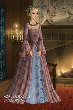 Folk and Historical doll by rubyiris. Lady Joyce, born a commoner, was a governess for the five children of a wealthy lord whose wife had died. She then became a lady. Cosplay Outfits, Anime Outfits, Barbie Dress, Dress Up, Historical Costume, Historical Dress, Tudor Dress, Beautiful Outfits, Beautiful Clothes