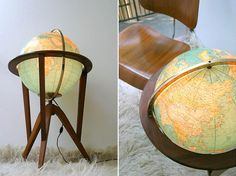Dunbar Illuminated World Globe by Edward Wormley