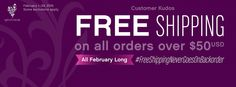 Free shipping for the month of February from younique for purchases $50 or more.  https://www.youniqueproducts.com/Laurensmakeupboutique