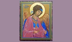 Art/Iconography by Odarka, Byzantine icon, Guardian Angel, original prototype - Andrei Rublev's Archangel Michael Andrei Rublev, Byzantine Icons, Archangel Michael, Gods Love, Behance, Gallery, Creative, Check, Painting