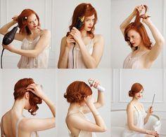 Chignon laterale capelli corti