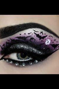 Amazing Halloween bat  Makeup