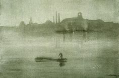 James McNeill Whistler: Nocturne: The Thames at Battersea, lithograph
