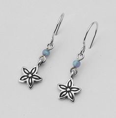 Amazing Opal 925 Silver Earrings With Blue Stone Shablool Didae Israel