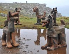 What to do with old rubber boots . . .