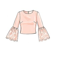New tops sewing pattern from McCall's can go glam or basic, your call. M7285, Misses' Tops