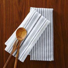 West Elm Market Kitchen Towel Set - Ticking Stripe