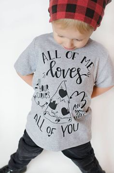 All of me loves a llll of you. Funny kids pizza tee. Trendy toddler outfits.