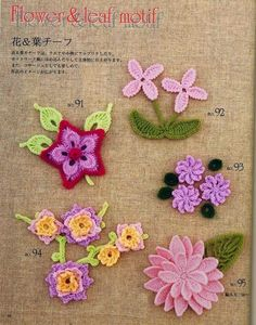 208 Patrones de Flores. Tutoriales - Patrones Crochet    https://drive.google.com/folderview?id=0B8mtKnUiUpvwVm5JY0Jlb3czOUU&usp=sharing