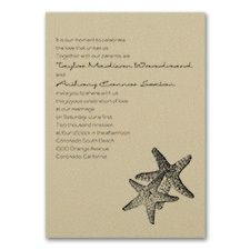 Seaside Duet - Invitation - Gold Shimmer
