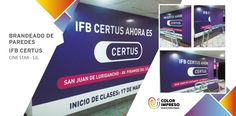 @colorimpresosac Brandeado de Paredes @multicinestar @IFBCERTUS  agradecer a HIGH END por apostar por nosotros.