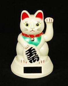 Bring in the wealth with the fun little solar powered Waving Maneki Neko Wealth Cat solar powered toy.