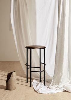 Black American Oak Stool by Fomu - Locally Designed Timber Furniture Deco Studio, Studio Setup, Timber Furniture, Furniture Design, Studio Interior, Interior Design, Family Shoot, Photography Studio Spaces, Photography Backdrops