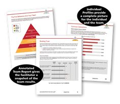 Pages from the profile report for a team. Lots of actionable information to use to improve your team.