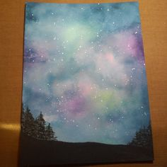 Starry Night Stampafaire2016 with Trees by iluvpaper2 - Cards and Paper Crafts at Splitcoaststampers