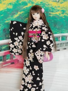 Kimono, Dolls, Fashion, Dress, Baby Dolls, Moda, Fashion Styles, Puppet, Doll
