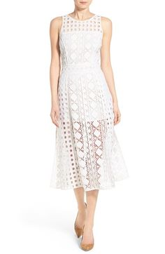 Olivia Palermo + Chelsea28 Patchwork Lace Midi Dress available at #Nordstrom