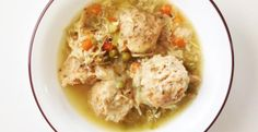 Healthified Crock Pot Chicken & Dumplings