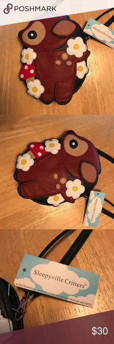 NWT! Sleepyville Critters Modcloth Deer Purse 🦌 Brand new never used tags still attached! I think this is so cute, but I just never used it so time to share the love 💕😊 Modcloth Bags